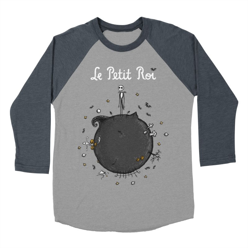 Le Petit Roi Men's Baseball Triblend T-Shirt by Paula García's Artist Shop
