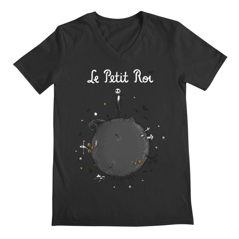 Le Petit Roi Men's V-Neck by Paula García's Artist Shop