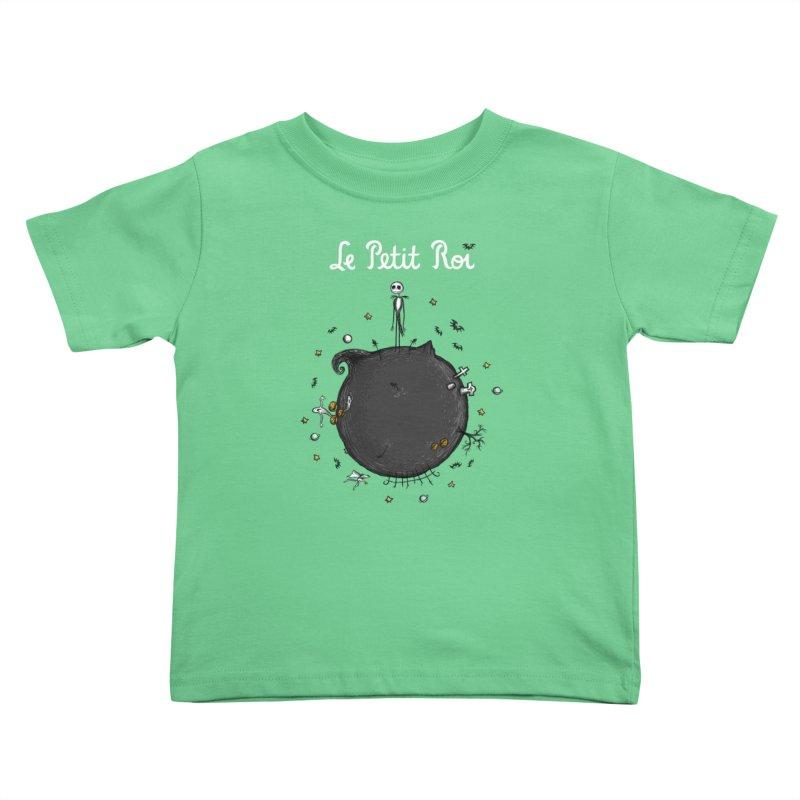 Le Petit Roi Kids Toddler T-Shirt by Paula García's Artist Shop