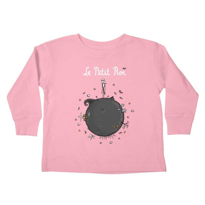 Le Petit Roi Kids Toddler Longsleeve T-Shirt by Paula García's Artist Shop