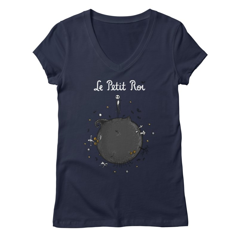 Le Petit Roi Women's V-Neck by Paula García's Artist Shop