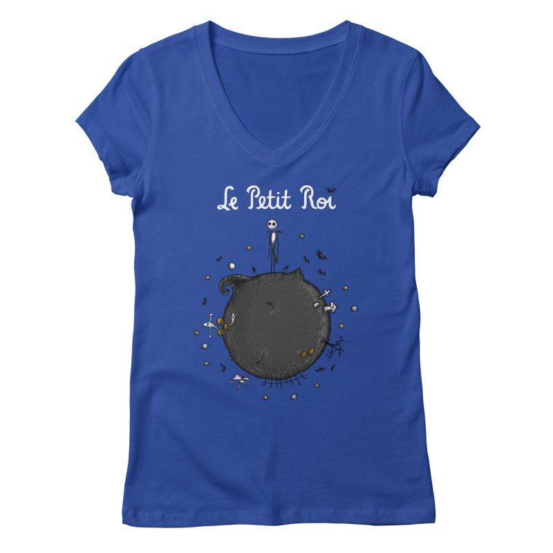 Le Petit Roi Women's V-Neck by Paula García's Artist Shop