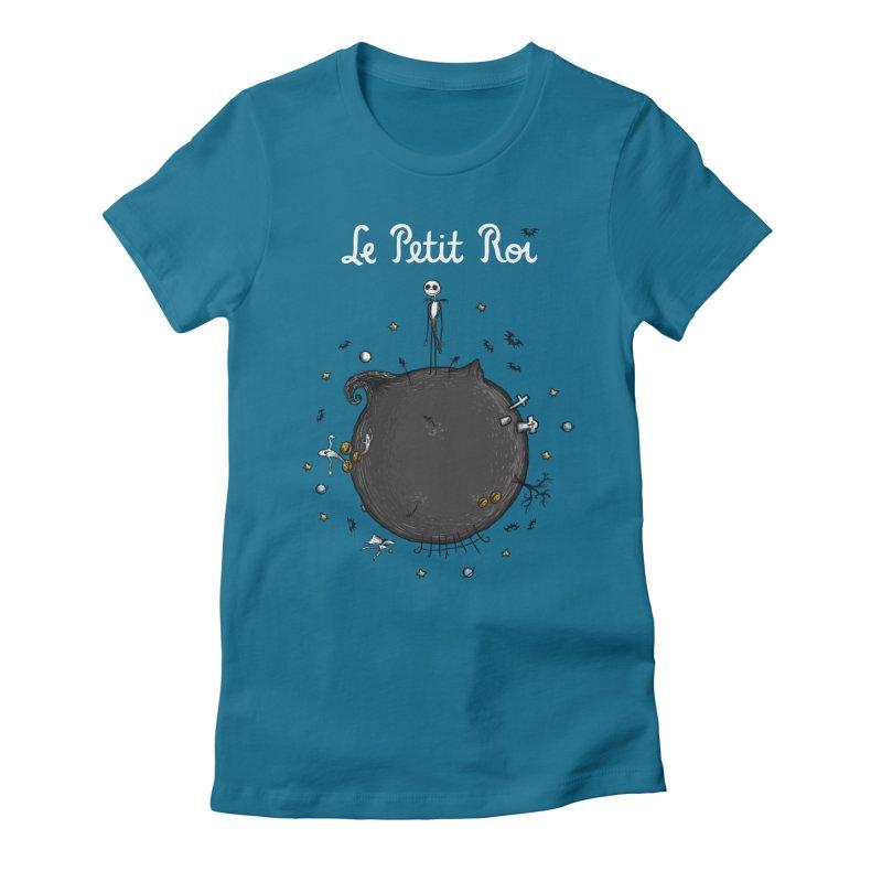 Le Petit Roi Women's Fitted T-Shirt by Paula García's Artist Shop
