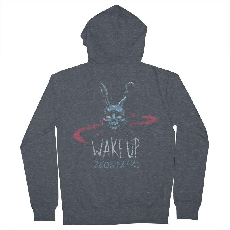 Wake Up Men's Zip-Up Hoody by Paula García's Artist Shop