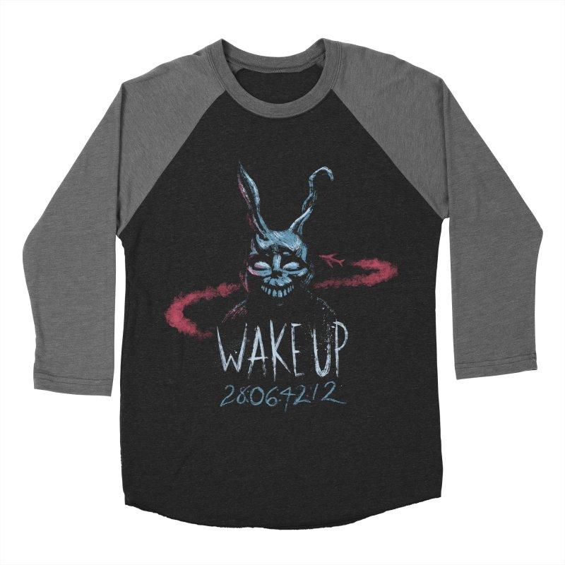 Wake Up Women's Baseball Triblend T-Shirt by Paula García's Artist Shop