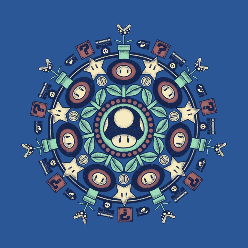 One Up Mandala Men's Triblend Tank by Paula García's Artist Shop