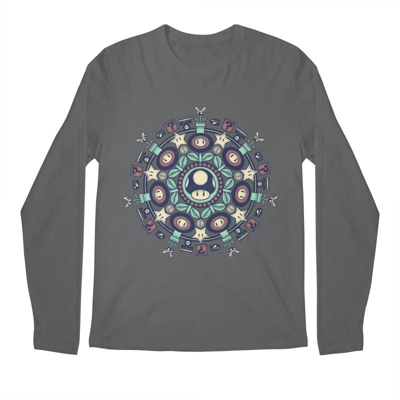 One Up Mandala Men's Longsleeve T-Shirt by Paula García's Artist Shop