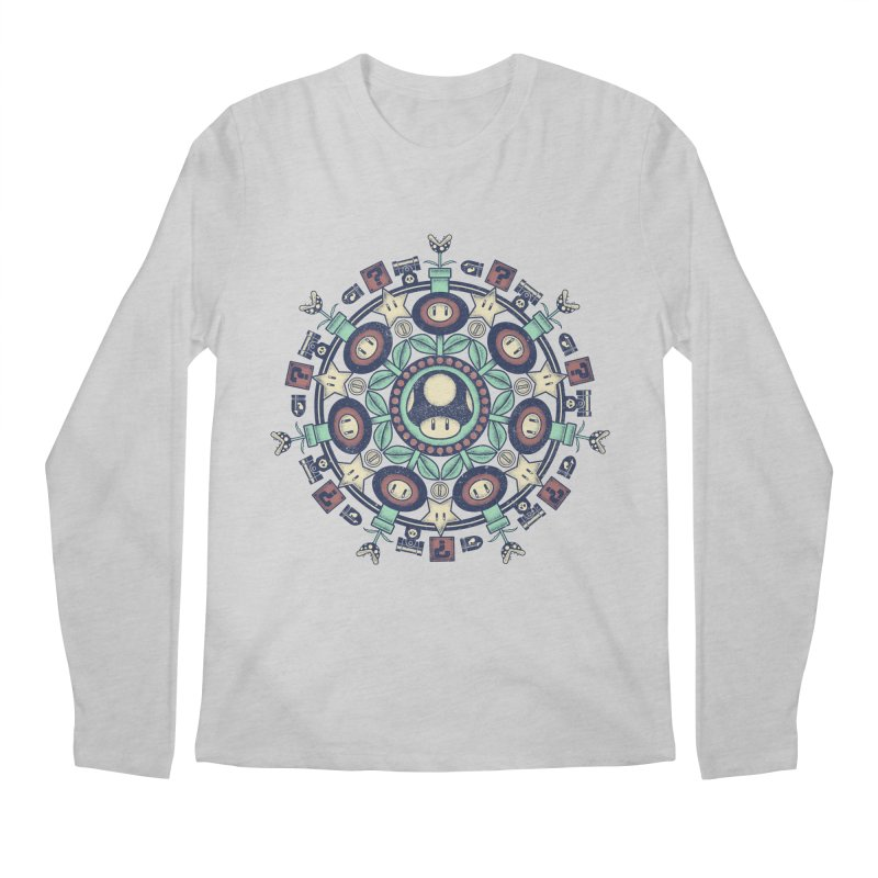One Up Mandala Men's Longsleeve T-Shirt by Paula García's Artist Shop