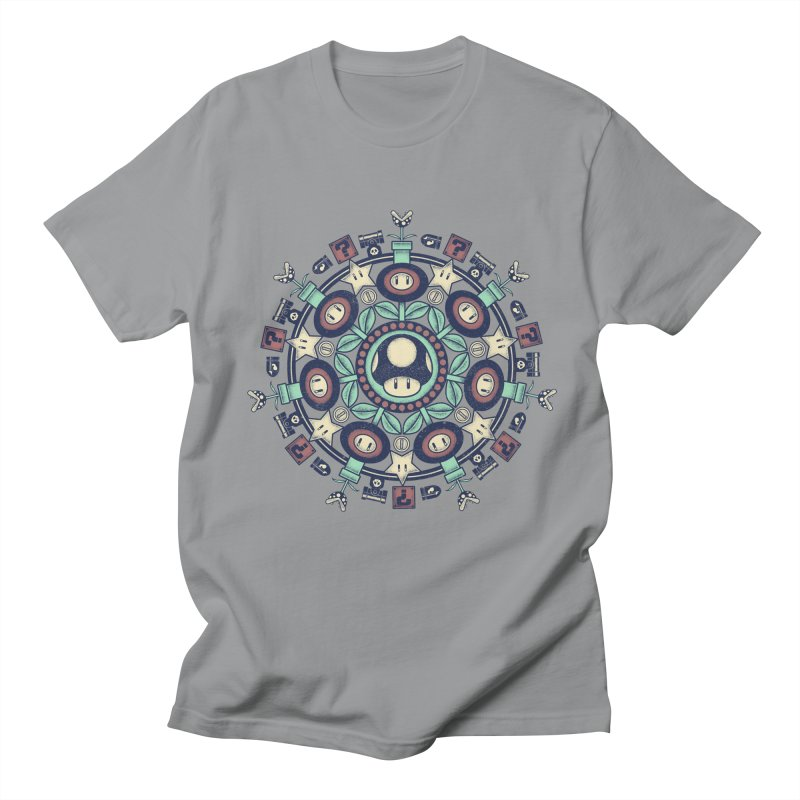 One Up Mandala Men's T-Shirt by Paula García's Artist Shop