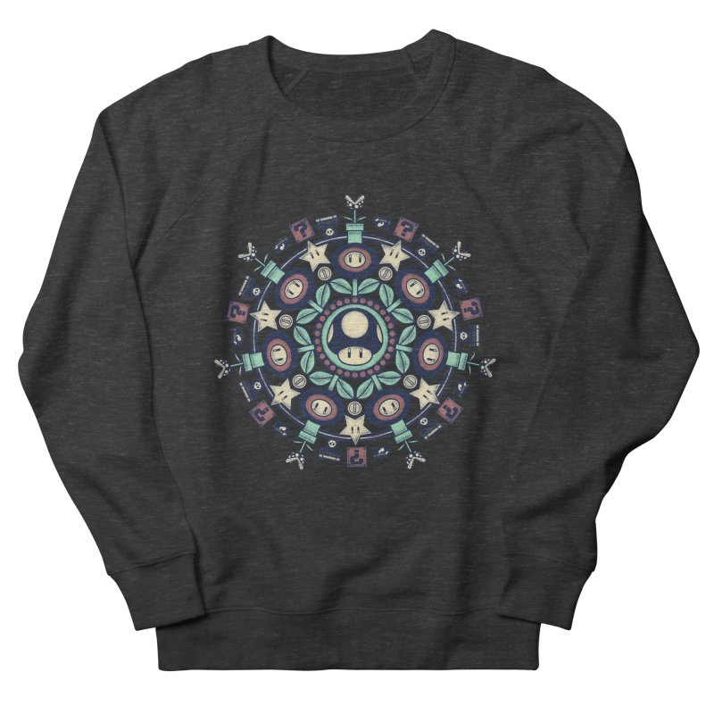 One Up Mandala Men's Sweatshirt by Paula García's Artist Shop