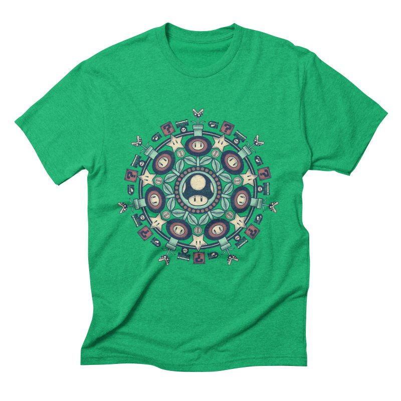 One Up Mandala Men's Triblend T-Shirt by Paula García's Artist Shop