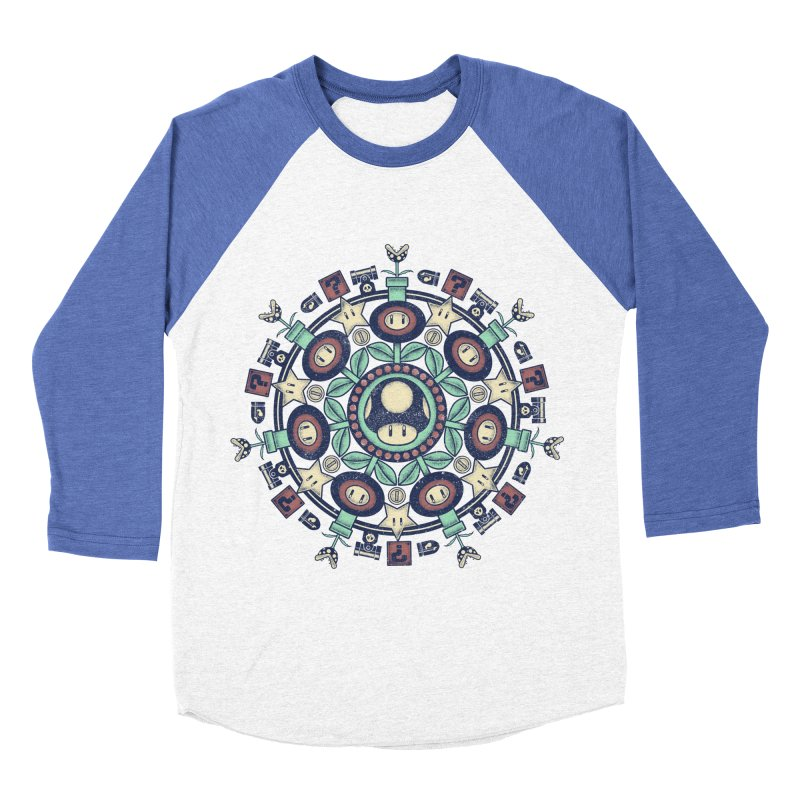 One Up Mandala Men's Baseball Triblend T-Shirt by Paula García's Artist Shop