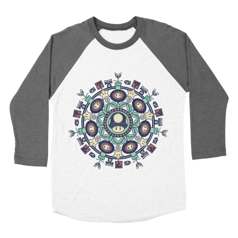 One Up Mandala Men's Baseball Triblend T-Shirt by Paula García's Artist Shop