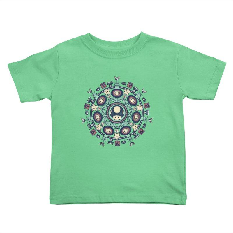 One Up Mandala Kids Toddler T-Shirt by Paula García's Artist Shop