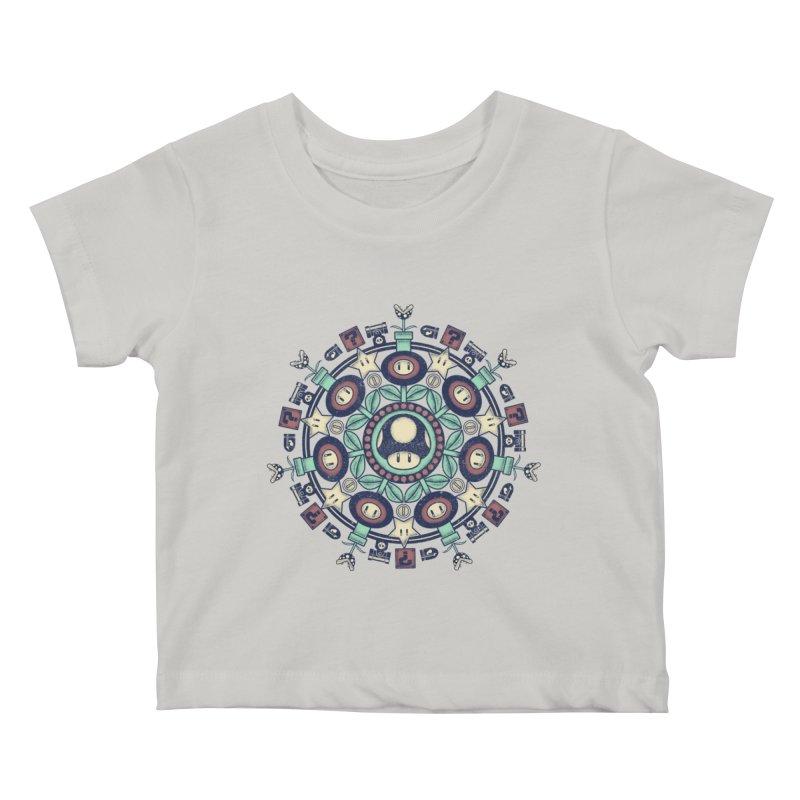 One Up Mandala Kids Baby T-Shirt by Paula García's Artist Shop