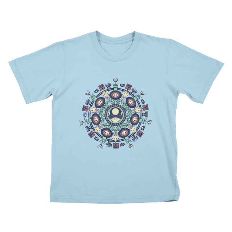 One Up Mandala Kids T-Shirt by Paula García's Artist Shop