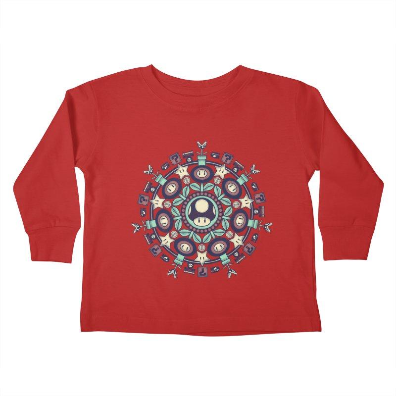 One Up Mandala Kids Toddler Longsleeve T-Shirt by Paula García's Artist Shop