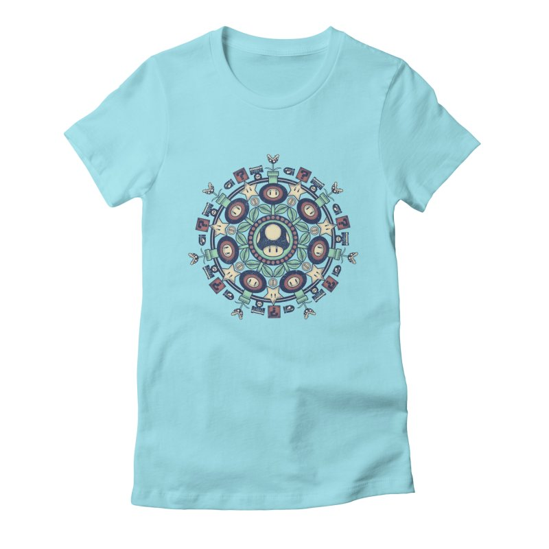 One Up Mandala Women's Fitted T-Shirt by Paula García's Artist Shop