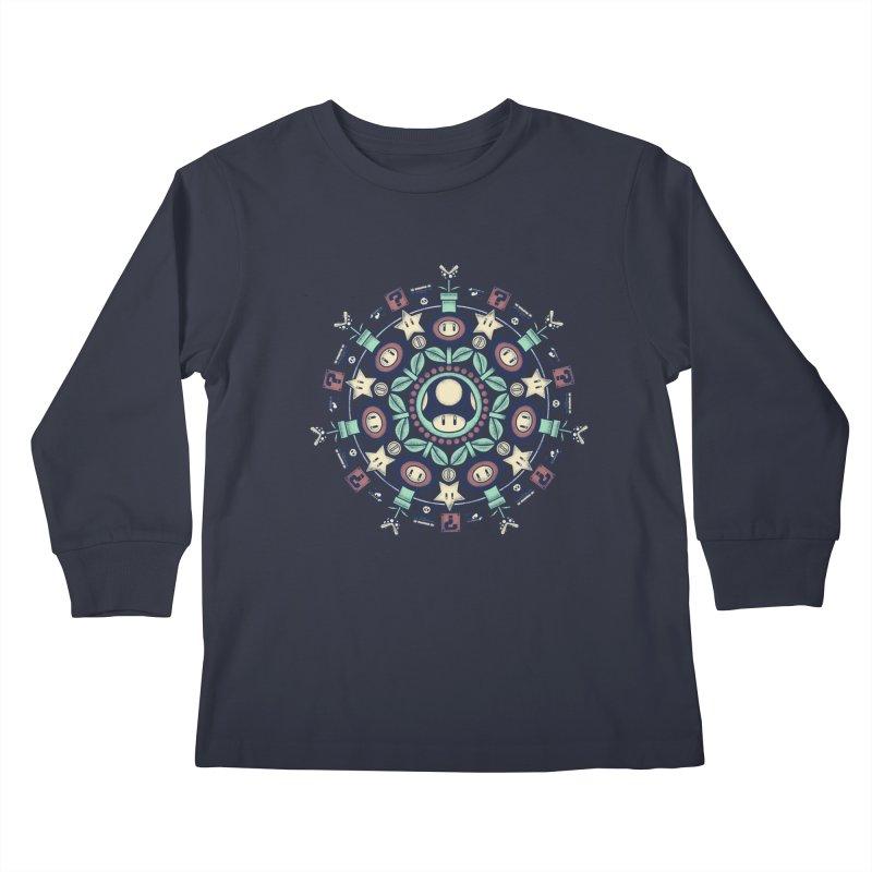 One Up Mandala Kids Longsleeve T-Shirt by Paula García's Artist Shop