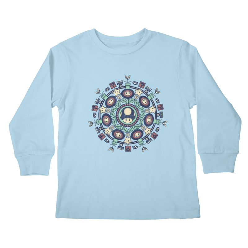 One Up Mandala Kids Longsleeve T-Shirt by Paula García's Artist Shop