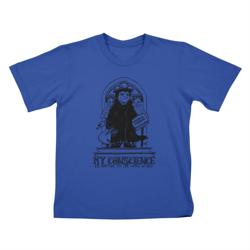 My Conscience is Captive Dark Print Kids T-shirt by Paul Cox Illustration Store