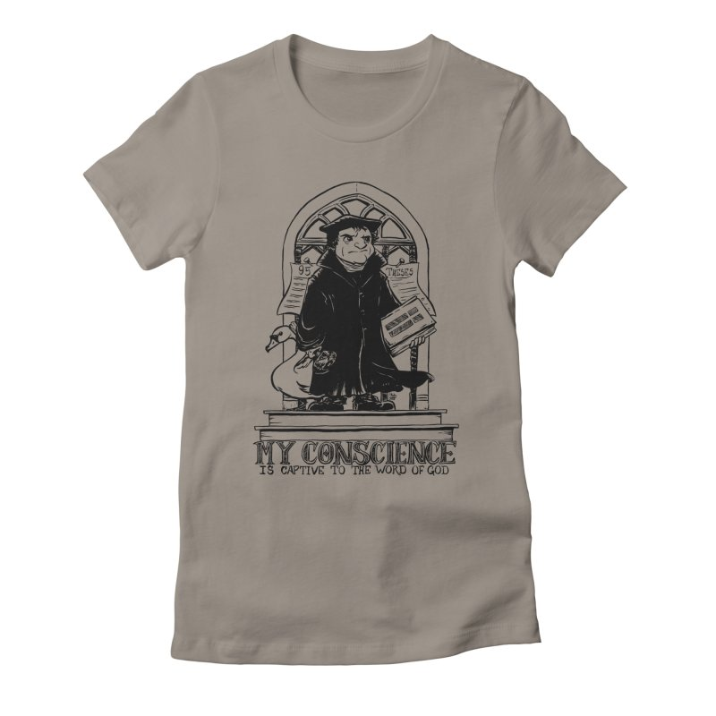 My Conscience is Captive Dark Print Women's Fitted T-Shirt by Paul Cox Illustration Store