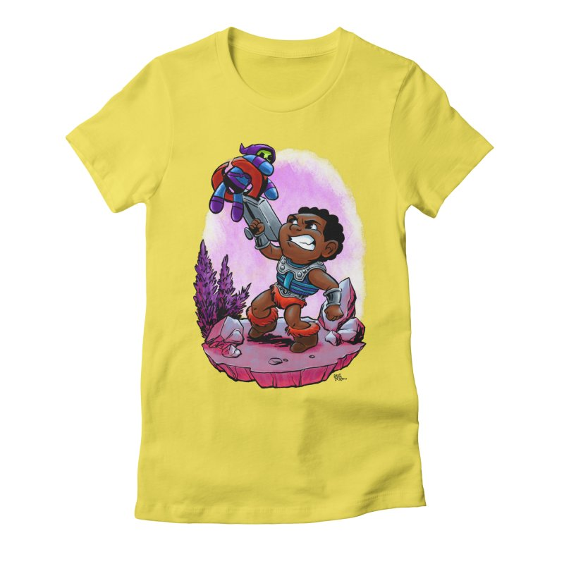 Clamp Champ Women's Fitted T-Shirt by Paul Cox Illustration Store