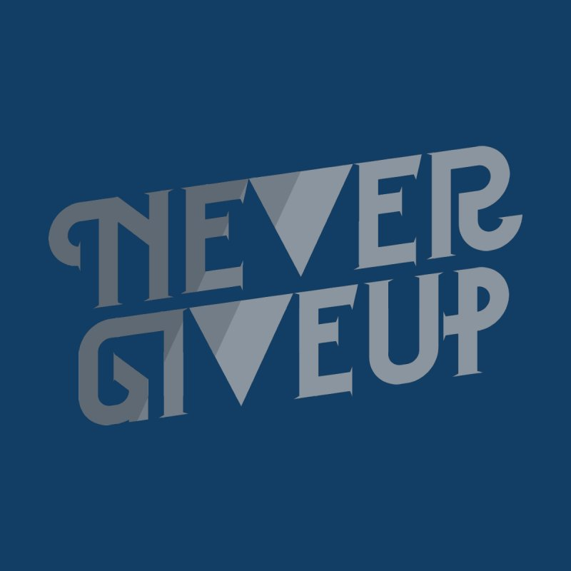 Never Give Up! Home Rug by Paulo Bruno Artist Shop