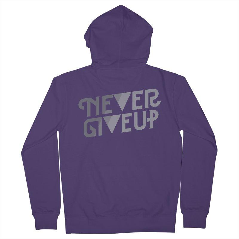 Never Give Up! Women's Zip-Up Hoody by Paulo Bruno Artist Shop