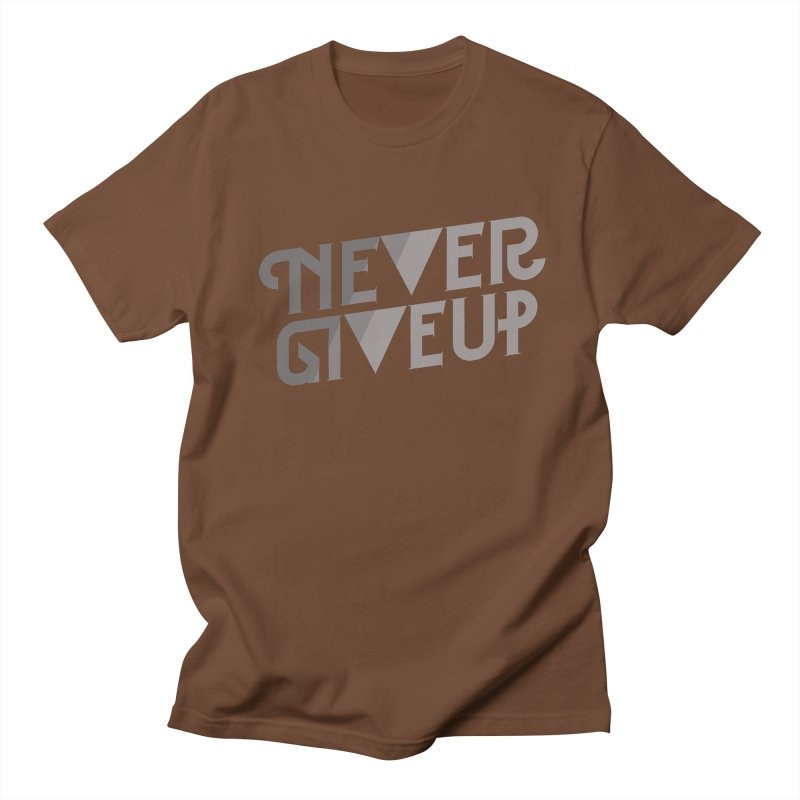Never Give Up! Men's Regular T-Shirt by Paulo Bruno Artist Shop