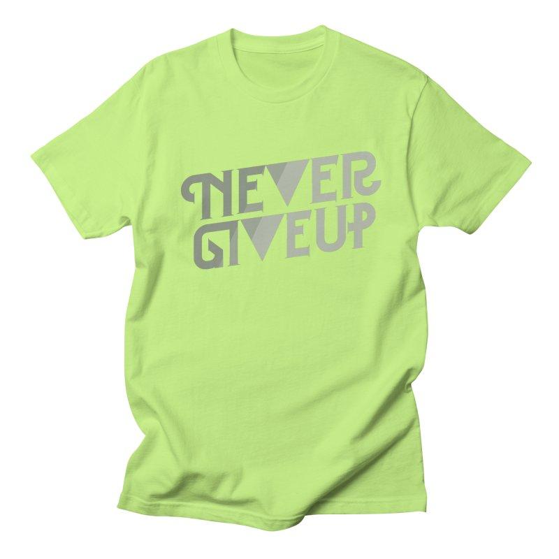 Never Give Up! Men's Regular T-Shirt by Paulo Bruno Artist Shop