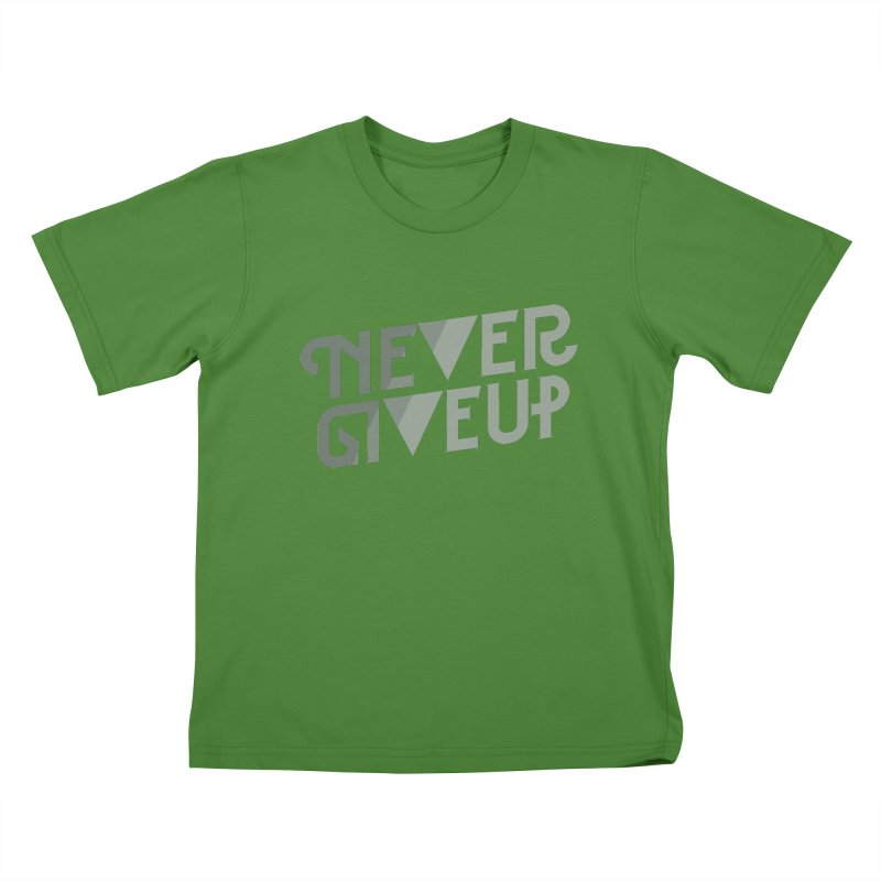 Never Give Up! Kids T-shirt by Paulo Bruno Artist Shop