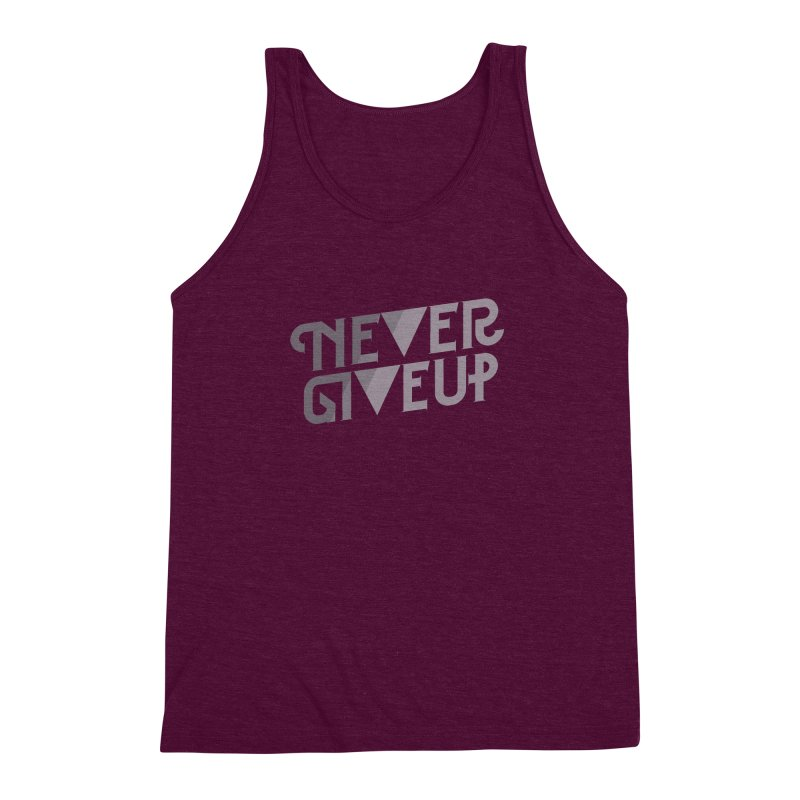 Never Give Up! Men's Triblend Tank by Paulo Bruno Artist Shop