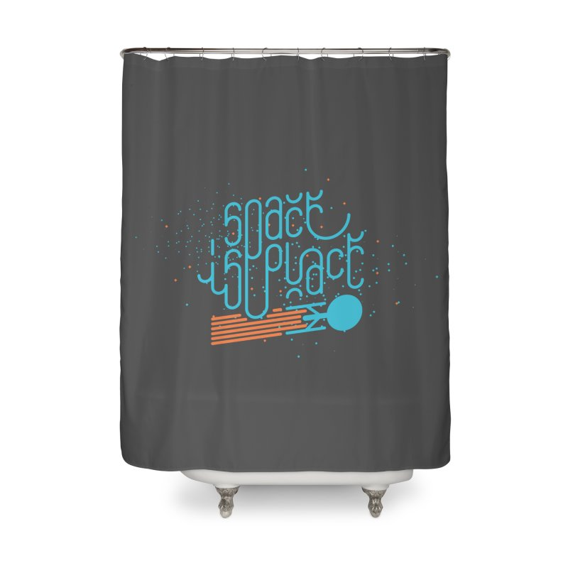 Space is the Place Home Shower Curtain by Paulo Bruno Artist Shop