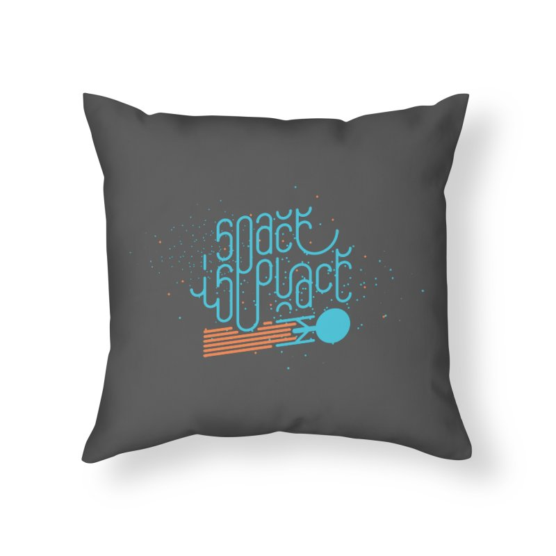 Space is the Place Home Throw Pillow by Paulo Bruno Artist Shop