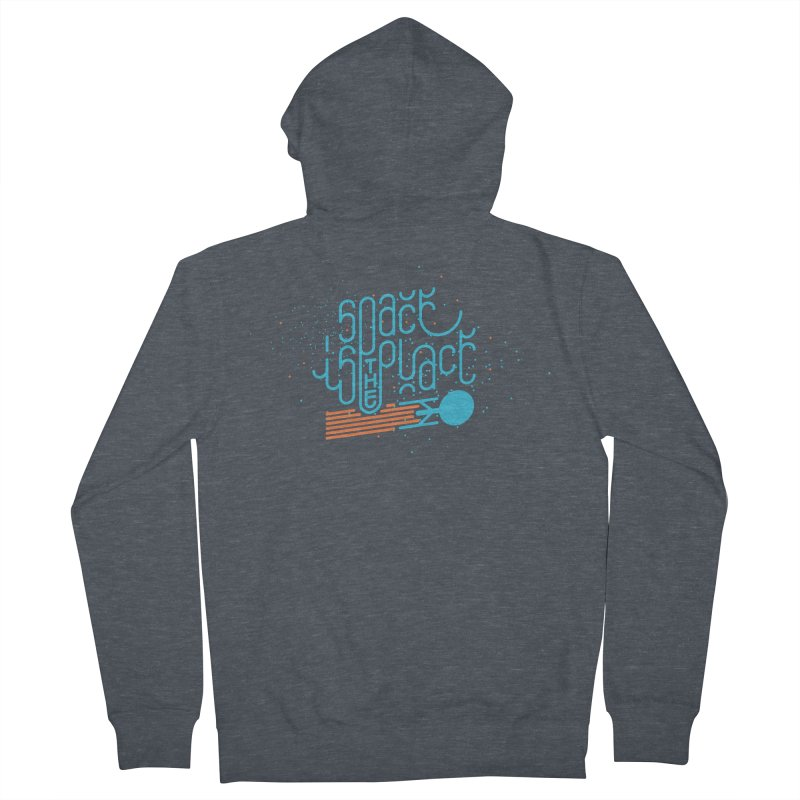 Space is the Place Men's Zip-Up Hoody by Paulo Bruno Artist Shop