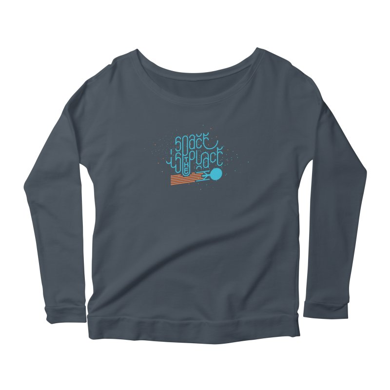 Space is the Place Women's Longsleeve Scoopneck  by Paulo Bruno Artist Shop