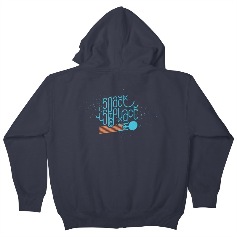 Space is the Place Kids Zip-Up Hoody by Paulo Bruno Artist Shop