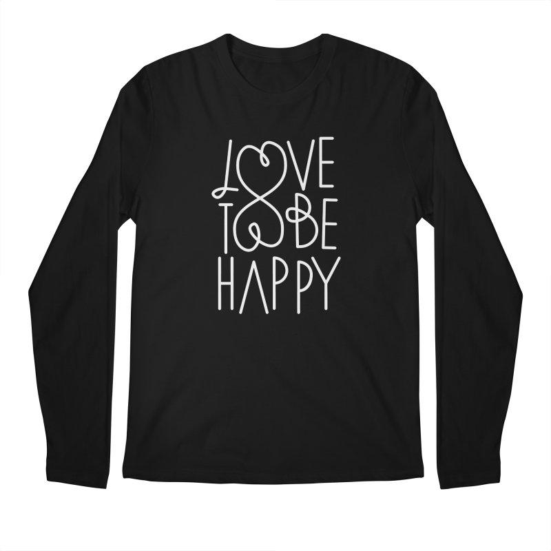 Love to be Happy Men's Regular Longsleeve T-Shirt by Paulo Bruno Artist Shop