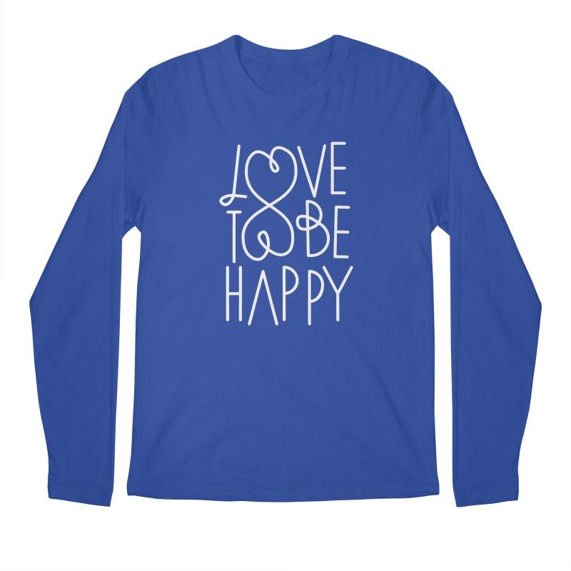 Love to be Happy Men's Longsleeve T-Shirt by Paulo Bruno Artist Shop