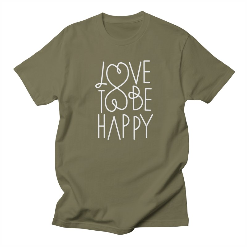Love to be Happy Men's Regular T-Shirt by Paulo Bruno Artist Shop