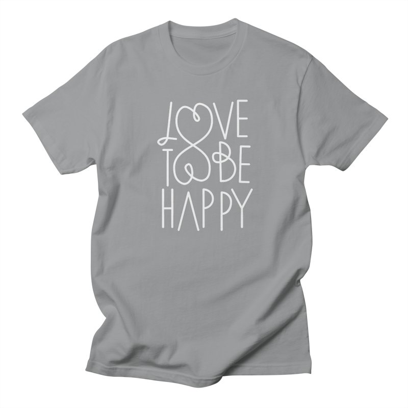 Love to be Happy Men's Regular T-Shirt by Paulo Bruno Artist Shop