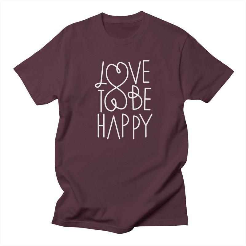 Love to be Happy Men's  by Paulo Bruno Artist Shop