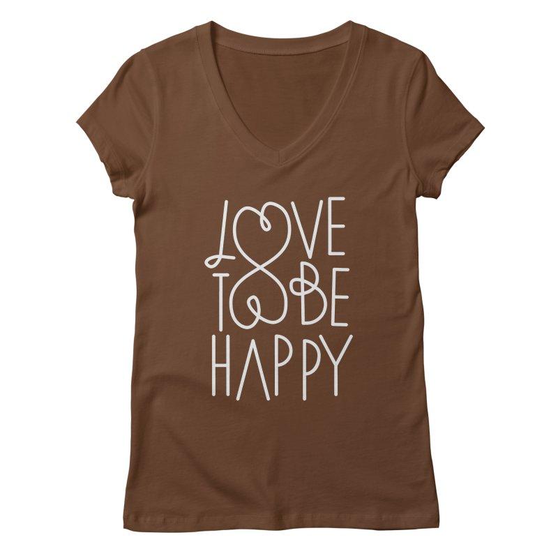Love to be Happy Women's Regular V-Neck by Paulo Bruno Artist Shop