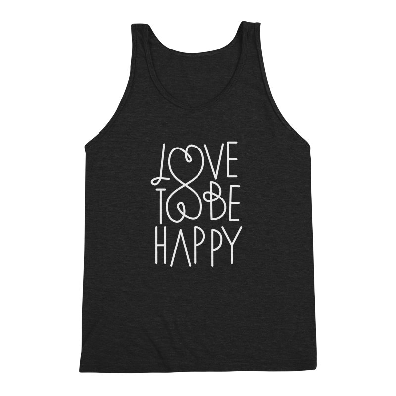 Love to be Happy Men's Triblend Tank by Paulo Bruno Artist Shop