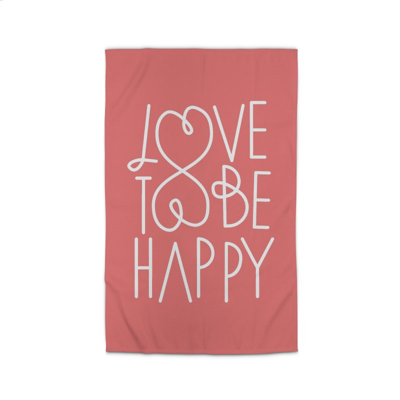 Love to be Happy Home Rug by Paulo Bruno Artist Shop