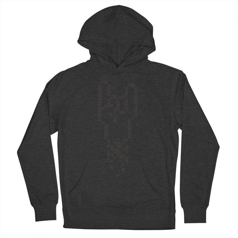 Pixel Rock Women's French Terry Pullover Hoody by Paulo Bruno Artist Shop