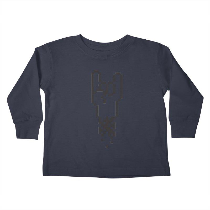Pixel Rock Kids Toddler Longsleeve T-Shirt by Paulo Bruno Artist Shop