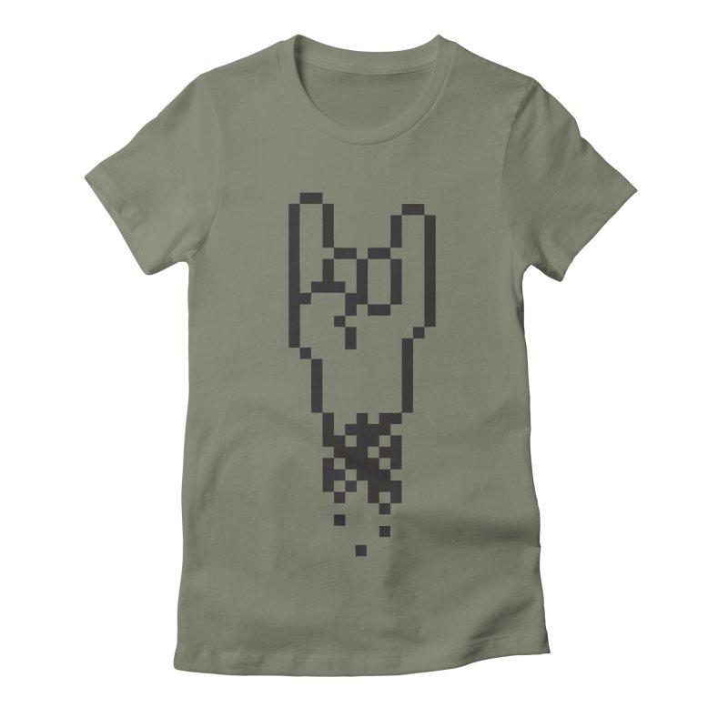 Pixel Rock Women's Fitted T-Shirt by Paulo Bruno Artist Shop