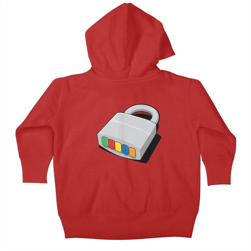 Code Hero Kids Baby Zip-Up Hoody by Paulo Bruno Artist Shop